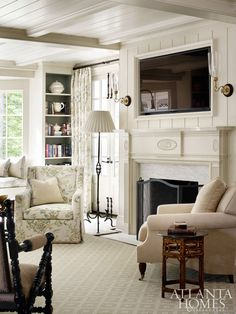 beautiful living room in white and cream