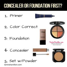 Do you get confused as to whether you should apply concealer or foundation first? Then check out this fresh of the presses blog post. http://tamirahamilton.com/motives-cosmetics/concealer-or-foundation-first/