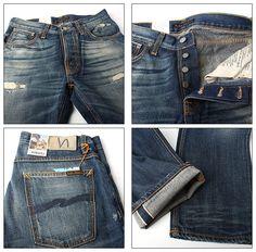 【楽天市場】【Nudie jeans一万円均一セール!7/4(金)17:00まで!】【送料無料】Nudie Jeans(ヌーディージーンズ) AVERAGE JOE(アベレージジョー) ORG.WORN SELVAGE [111240] L32【あす楽対応】【即納】:BUMP STORE