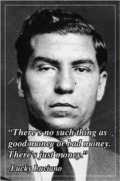 motivational quote poster LUCKY LUCIANO american mobster humorous NEW Brand New. Will ship in a tube. - Multiple item purchases are combined the next day and get a discount for dom Real Gangster, Mafia Gangster, American Gangster Quotes, Mob Quotes, Life Quotes, Relationship Quotes, Mafia Crime, Sixpack Workout, Motivational Quotes