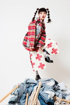 japanese fashion #fashion Japanese Fashion Brand HEIHEI Dalmatians A/W 2014 Exhibition Grunge Outfits, Grunge Fashion, Cute Fashion, Fashion Outfits, Fashion Styles, Fashion Shirts, Classy Fashion, Party Fashion, Fashion Fashion