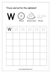 English Worksheet - Alphabet Writing - Capital Letter W English Alphabet Writing, Alphabet Writing Worksheets, Alphabet Writing Practice, Alphabet Tracing, Learning Letters, Kindergarten Workbooks, Small Letters, 40th Birthday, Birthday Cakes