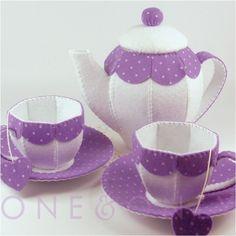 How CUTE is this? Felt Tea Set.