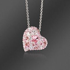 """I purchased this Swarovski multi-pink crystal heart for my sister. She was diagnosed with cancer this year. She loves all things pink and also, nothing brings her joy like receiving a piece of jewelry. The incredible sparkle of these pink crystals will match the sparkle in her eyes."" -Passion4jewelry, Charlotte, NC >>Click on the Swarovski Crystal ""Alana"" Heart Pendant Necklace to learn more. #swarovski #heart #pendant #necklace #pink #breastcancer #sparkle"