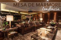 Mesa de mármore é tendência na decoração! Veja salas lindas com essa novidade!