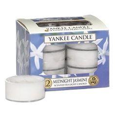 Yankee Candle 12-Piece Tea Light Candles, Midnight Jasmine