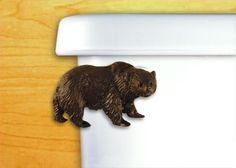 Functional Fine Art Bear Chrome Decorative Toilet Flush Handle / Tank Trip Lever - Side Tank Mount