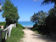 Path to Lanikai Beach, a gorgeous white sand beach Beautiful Clear Aqua waters. Post Card-esk