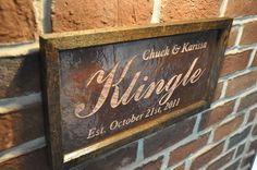 Personalized Wedding Sign Copper Engraving..