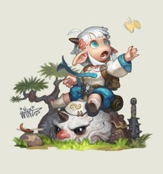Chibi Characters, Cute Characters, Fantasy Characters, Female Character Design, Character Concept, Character Art, Cute Illustration, Character Illustration, Game Concept Art