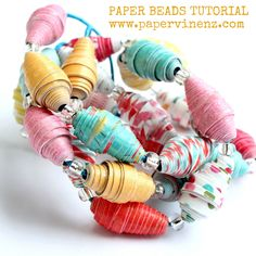 PaperVine: More Summer Beads - Different Colors! (Echo Park)