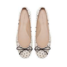 POLKA DOT BALLERINA SHOES - Shoes - Woman | ZARA United States