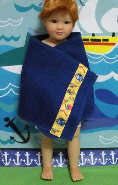 "Fits 18"" Kidz 'n' Cats Boy Doll ... Blue Boy Superhero Beach Towel ... D340"