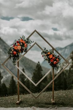 This unique wedding arch, designed by Hornwood Works in Calgary, Alberta, was created as a wooden double diamond archway for our couple's outdoor wedding ceremony. The wedding took place at Tunnel Mou Wedding Ceremony Ideas, Outdoor Wedding Backdrops, Wedding Aisles, Wedding Ceremonies, Diy Wedding Arch Ideas, Wedding Favors, Wedding Reception, Wedding Cake, Wedding Gifts