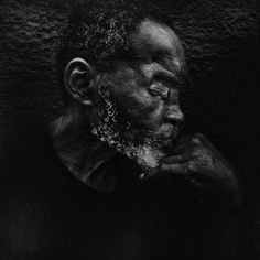 Calvin.Overtown, Miami. Homeless.   Shot in the eye (which he lost) back in '81.  The gripping portraiture of accountant turned self-taught photographer Lee Jeffries  Gritty and powerful portraits, most often of the homeless.