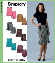 Simplicity 4787 6 Skirts Made Easy - Recommended by PatternReview.com