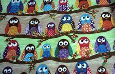 """Eulenstoff ♥Eulen im Baum """"What a hoot""""♥  Riley Blake Designerstoff USA  Wunderschöner Stoff für deine kreative Zeit.....    *wenn mehr Meter benötig"""