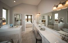 Gorgeous Master Bath of 1602 Emerald Bay Lane Highland Homes Model Home at Inspiration Texas in St. Paul, Texas