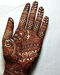 Explore latest Mehndi Designs images in 2019 on Happy Shappy. Mehendi design is also known as the heena design or henna patterns worldwide. We are here with the best mehndi designs images from worldwide. Indian Henna Designs, Mehndi Designs Book, Full Hand Mehndi Designs, Mehndi Design Pictures, Mehndi Designs For Girls, Beautiful Henna Designs, Mehndi Patterns, Henna Tattoo Designs, Bridal Mehndi Designs