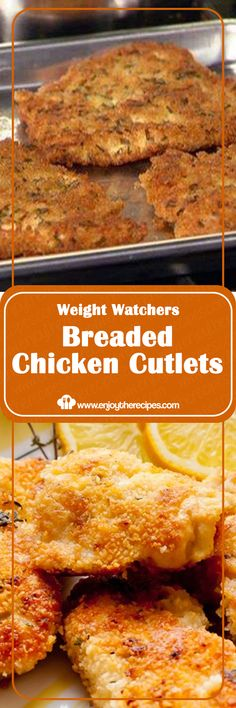 Weight Watchers Breaded Chicken Cutlets - Enjoy The Recipes Weight Watchers Chicken, Weight Watchers Meals, Lunch Recipes, Cooking Recipes, Dishes Recipes, Yummy Recipes, Healthy Recipes, Fried Chicken Recipes, Chicken Meals