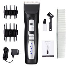 Dog Clippers 2-Speed Professional Rechargeable Cordless Pet Grooming Clippers Kit with Low Noise and Safety Blade Design for Thick Coats -- See this great product. (This is an affiliate link and I receive a commission for the sales) #Cats