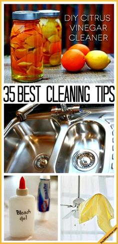 #9 - Use Baking Soda On...Everything! I am in love with this tip. It's non-toxic, it cleans & deodorizers, leaves my sink shiny & streak-free, & removes stains! // 10 Natural Household Cleaning Tips