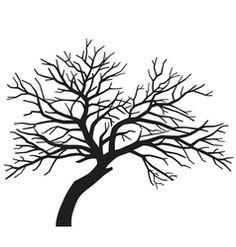 Vector image of Silhouettes of trees without leaves Vector Image, includes tree, forest, bush, design & garden. Illustrator (.ai), EPS, PDF and JPG image formats.