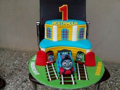Thomas cake b Thomas Cakes, Desserts, Food, Tailgate Desserts, Deserts, Essen, Postres, Meals, Dessert