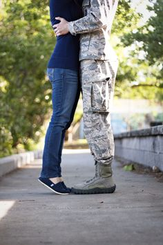 Love this one of us! #airforce #engaged #weddings #militaryengagement  #boots #love #military