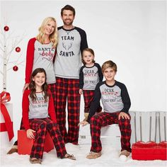 Great for Christmas morning pictures HOLIDAY Holiday Pa - Family Pajamas - Ideas of Family Pajamas - Great for Christmas morning pictures HOLIDAY Holiday Pattern Pant Pajama Set-Womens Family Holiday Pajamas, Family Pajama Sets, Matching Family Pajamas, Funny Pajamas, Pajamas Women, Christmas Pjs, Christmas Sweaters, Christmas Morning, Family Christmas Pictures