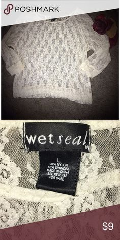 Selling this Total Lace Quarter-Sleeved Blouse - Gently Worn on Poshmark! My username is: btowlson2012. #shopmycloset #poshmark #fashion #shopping #style #forsale #Wet Seal #Tops
