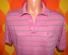 vintage 70s golf shirt polo PENGUIN pink stripe grand slam munsingwear Medium silky soft thin 80s. $22.00, via Etsy.