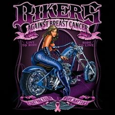 Wholesale T Shirts Custom Printed - Biker T-Shirts Men's Women's - 14x17-bikers-against-breast-cancer-girl-blue-chopper