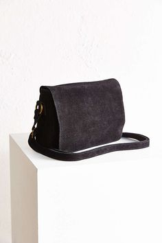 Ecote Perforated Suede Messenger Bag - Urban Outfitters