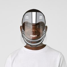 Football Helmet Gray White Numbered Kids' Face Shield - tap, personalize, buy right now! #KidsFaceShield  #football #american #sport #boys #girls Yellow Black, Red And White, Eye Frames, Clear Face, Plastic Animals, Glasses Frames, White Ink, Perfect Match, Football Helmets