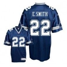 Reebok Dallas Cowboys #22 Emmitt Smith Blue Premier Jersey