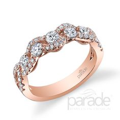 Rose gold and diamond ring. Parade Designs - Charites  - Style: BD3154A. Available at Murphey the Jeweler