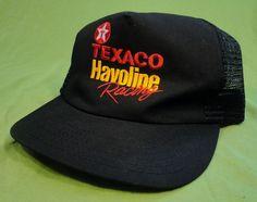 Texaco Havoline Racing Snapback Mesh Trucker Hat Baseball Cap Black Adjustable #SportsImage #Trucker