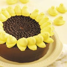 Peeps Sunflower Cake Recipe - Holiday Cottage