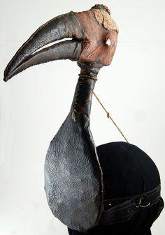 P6242074e Old worn Hunters secretary bird decoy, Hausa, Niger by ann porteus, Sidewalk Tribal Gallery, via Flickr