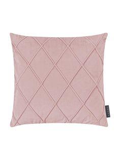 Throw Pillows, Bed, Tips, Diamond Pattern, Creative Design, Soft Fabrics, Dusty Pink, Beautiful Homes, Velvet