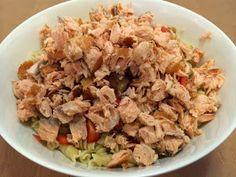 Liian hyvää: Pastasalaatti lämminsavulohesta Fusilli, Grains, Rice, Food, Red Peppers, Essen, Meals, Seeds, Yemek