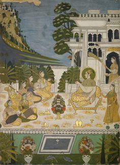 Hindola Raga, an illustration from a ragamala series, Deccan, Bidar,   circa 1725.