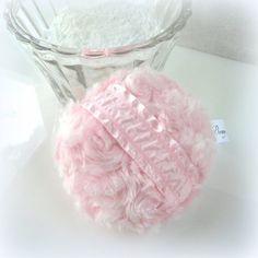 Body Powder Puff - cotton candy pink - handmade bath pouf - gift boxed by Bonny Bubbles, $11.95