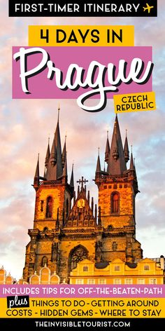 Need Some Help For Your Prague First Time Visit? My 4 Days In Prague Itinerary Is A Complete Guide For First-Timers Covering Things To Do In Prague, Where To Stay In Prague, Prague Hidden Gems, Off The Beaten Path Ideas And More The Invisible Tourist Backpacking Europe, Europe Travel Guide, Travel Guides, Prague Travel Guide, Europe Destinations, Prague Things To Do, Prague Czech Republic, Voyage Europe, European Travel