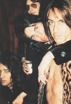 The Stooges:  Scott and Ron Asheton, James Williamson and Iggy Pop.  July 1972