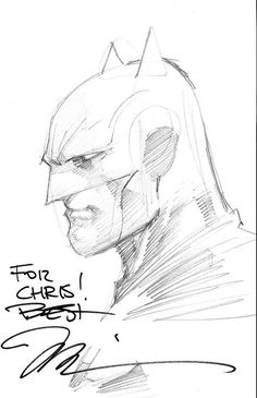 Batman sketch by Jim Lee #dccomics #batman
