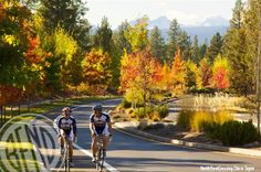 Fall cycling in Central Oregon.