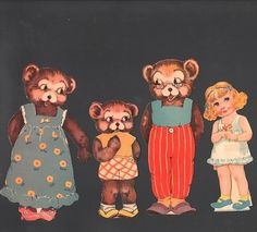 Antique Goldilocks and The Three Bears 1939 Betty Belle Rea | eBay