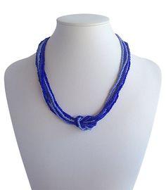 Love Knot Indigo Blue | Indigo Heart - Fair Trade Fashion A$19.50 Fair Trade Fashion, Indigo Blue, Knots, Artisan, Beaded Necklace, Jewelry Making, India, Love, Beads
